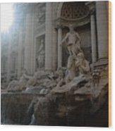 Roma Fontana Dei Trevi Wood Print
