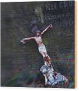 Roman And Crucifix Wood Print by Susan Isakson