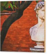 Roman Bust, Loyola University Chicago Wood Print