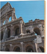 The Colosseum Of Rome Wood Print
