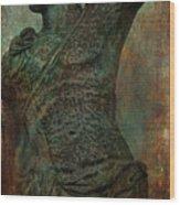 Roman Hunter Statue Torso Left Wood Print