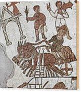 Roman Mosaic: 5th Century Wood Print
