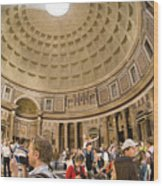 Roman Pantheon Wood Print