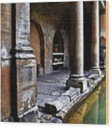 Roman Pillars  Wood Print