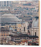 Roman Rooftops Wood Print by Andy Smy