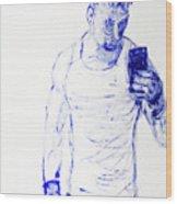 Roman Selfie Wood Print