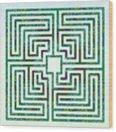Roman - The Green Path Wood Print
