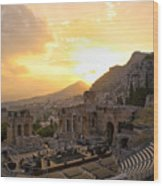 Roman Theater In Taormina IIi Wood Print