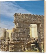 Roman Wall In Cadiz Spain Wood Print