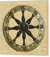 Roman Wheel Wood Print