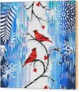 Romance In The Snow Wood Print