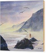 Romance Of The Cormorants Wood Print