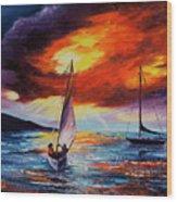 Romancing The Sail Wood Print