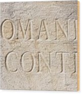 Romanee Conti Wood Print
