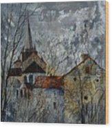 Romanesque Church  Wood Print