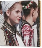 Romanian Beauty - 2 Wood Print