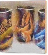 Romanian Vases Wood Print