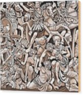 Romans And Barbarians Wood Print