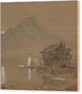 Romantic Bay Wood Print