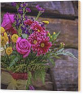 Romantic Bouquet 3 Wood Print