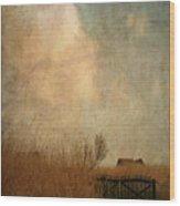 Romantic House Wood Print