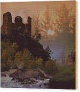 Romantic Landscape  Wood Print