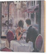 Romantic Meeting 2 Wood Print