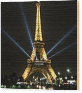 Romantic Night In Paris Wood Print