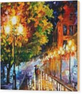 Romantic Night Wood Print