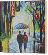 Romantic Night Out Wood Print