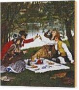Romantic Picnic 1873 Wood Print