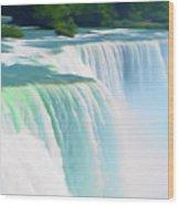 Romantic Skies Niagara Falls 2  Wood Print