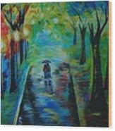 Romantic Stroll Wood Print