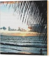 Romantic Sunset Wood Print