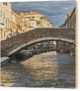 Romantic Venice Wood Print
