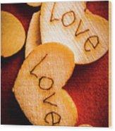Romantic Wooden Hearts Wood Print