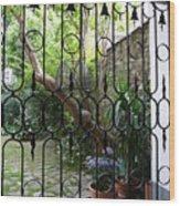 Romantic Yard Wood Print