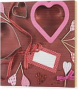 Romantic Theme Cookie Cutters Wood Print