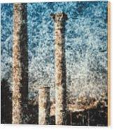 Rome - 3 Classic Colums Wood Print