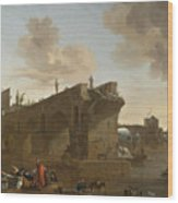 Rome. A View Of The Ponte Rotto Wood Print