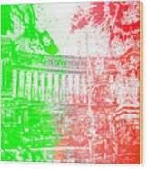 Rome - Altar Of The Fatherland Colorsplash Wood Print