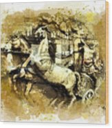 Rome Chariot  Wood Print