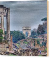 Rome Horizon Wood Print