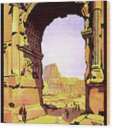 Rome, Italy, Rome Express Railway Wood Print