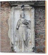 Rome Italy Statue Wood Print