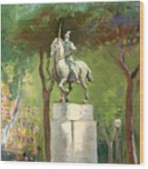 Rome Piazza Albania Wood Print