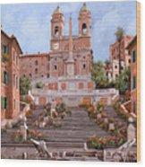 Rome-piazza Di Spagna Wood Print