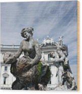 Rome Piazza Wood Print