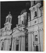 Rome - Piazza Navona - A View 3 Wood Print