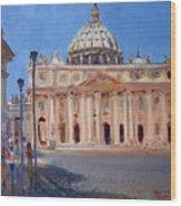 Rome Piazza San Pietro Wood Print